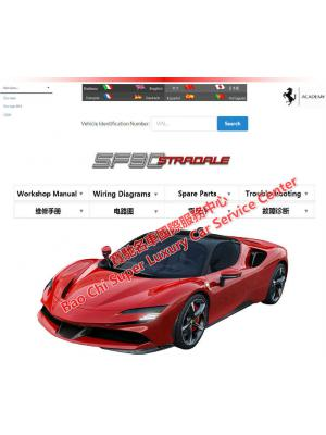 法拉利SF90维修手册电路图 Ferrari SF90 Stradale Workshop Manual